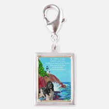 landseer and lighthouse Silver Portrait Charm