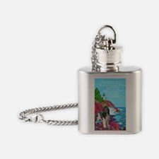 landseer and lighthouse Flask Necklace