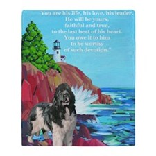 landseer and lighthouse Throw Blanket