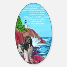 landseer and lighthouse Decal