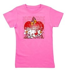 twilight red heart christmas tree squar Girl's Tee