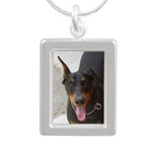 tanner Silver Portrait Necklace