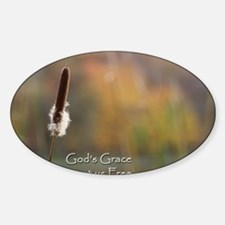 Gods Grace Cattail Decal