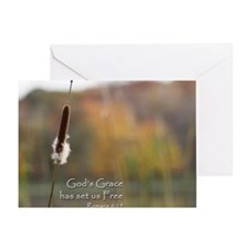 Gods Grace Cattail Greeting Card
