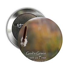 """Gods Grace Cattail 2.25"""" Button"""