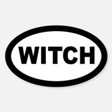 Witch Car Oval Decal