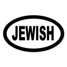 Jewish Car Oval Decal