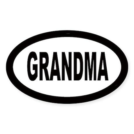 Grandma Car Oval Sticker