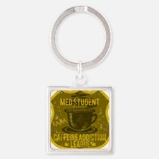 MED STUDENT Square Keychain