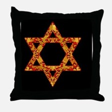 Holiday Gold Leaf Designs Relig Throw Pillow
