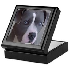 Cute Pitbull art Keepsake Box