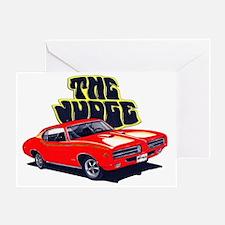 1969 GTO Judge Red Car Greeting Card