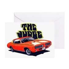 1969 GTO Judge Orange Car Greeting Card