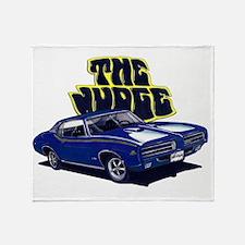 1969 GTO Judge Blue Car Throw Blanket