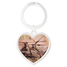 chinook Heart Keychain