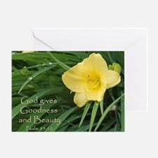 Lily with Water Drops Greeting Card