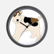 WirehairFoxTerrier-3 Wall Clock