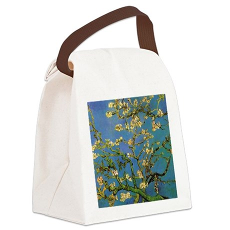 van gogh blossoming almond tree Canvas Lunch Bag