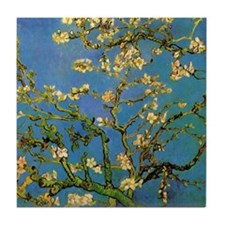 van gogh blossoming almond tree Tile Coaster