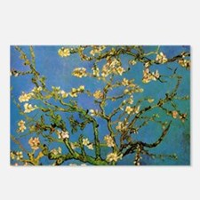 van gogh blossoming almon Postcards (Package of 8)