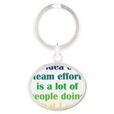 teameffort_iphone3 Oval Keychain