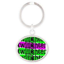 twilighter horizontal copy Oval Keychain