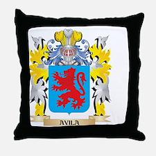 Avila Coat of Arms - Family Crest Throw Pillow