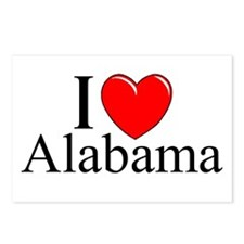 """I Love Alabama"" Postcards (Package of 8)"