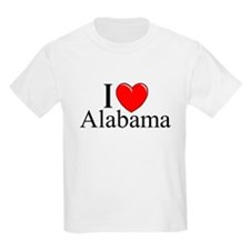 """I Love Alabama"" Kids T-Shirt"
