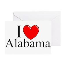 """I Love Alabama"" Greeting Cards (Pk of 10)"