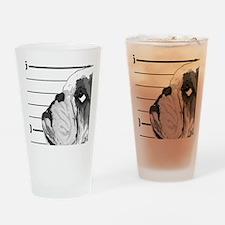 Bulldog4-NB Drinking Glass