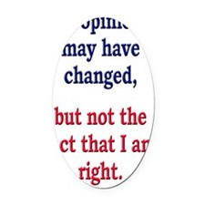 opinions_changed_journal Oval Car Magnet