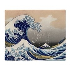 hokusai great wave Throw Blanket