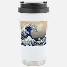 hokusai great wave Travel Mug