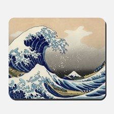 hokusai great wave Mousepad