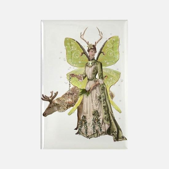Reindeer Guardian victorian angel Rectangle Magnet