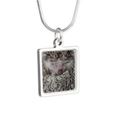 dennis - stocking Silver Square Necklace