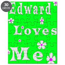 18 x 24 Print Edward Loves me lime Puzzle