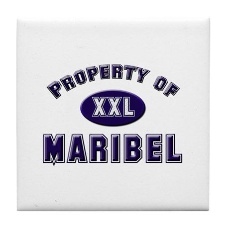 Property of maribel Tile Coaster