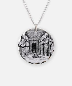 egypt great temple hall Necklace