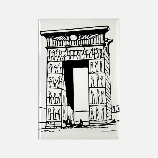 egypt gate karnak Rectangle Magnet