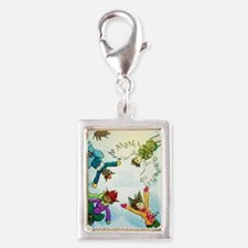 Snow Angels Ornament Silver Portrait Charm