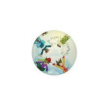 Snow Angels Ornament Mini Button