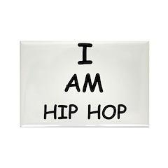 I AM HIP HOP Rectangle Magnet (100 pack)