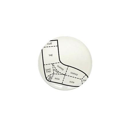 sock partsBLACK Mini Button