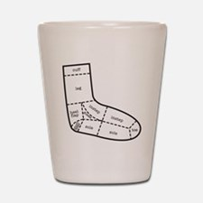 sock partsBLACK Shot Glass