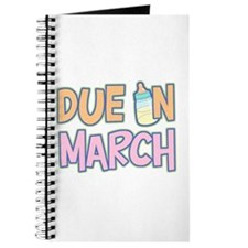 Due In March Girl Journal