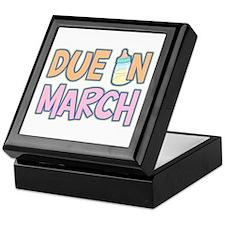 Due In March Girl Keepsake Box