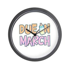 Due In March Girl Wall Clock