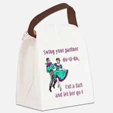 Swing-your-partnerl-one-slide Canvas Lunch Bag